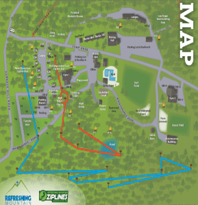 Camp Map of Refreshing Mountain Retreat and Adventure Center