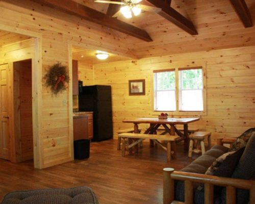 Living Room of Cabin Rental