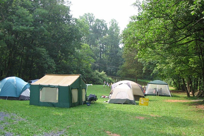 Group Tent Camping Sites
