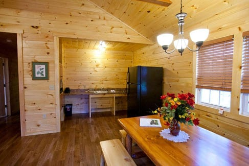 Kitchenette in Family Cabin Rentals