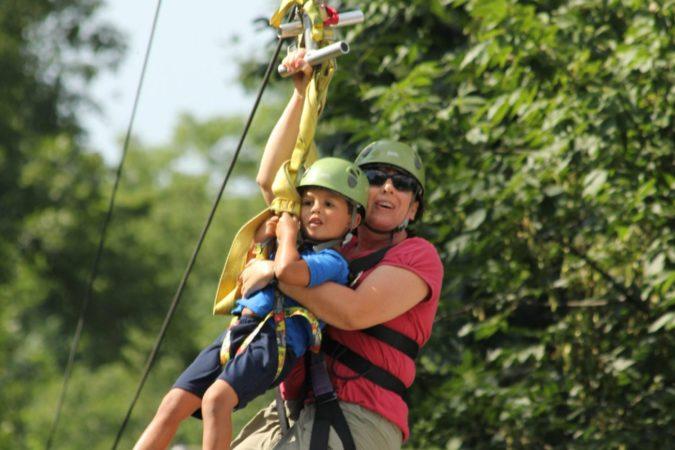 Ziplines_Challenge Adventure_Fall_Kids_Tandem