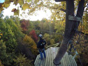 Challenge Adventure_Eagles Nest_Fall_Zipline_View