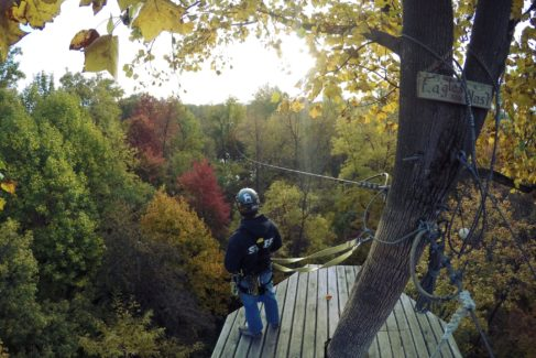 Challenge Adventure_Eagles Nest_Fall_Zipline_View