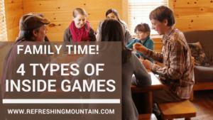 4 types of Family Cabin Games Blog Banner