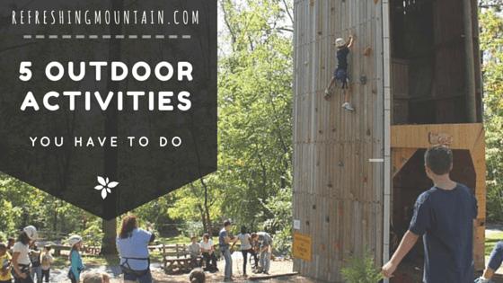 5 Outdoor activities Blog Banner
