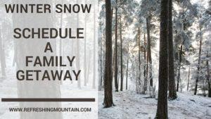 Winter Snow Schedule A Getaway
