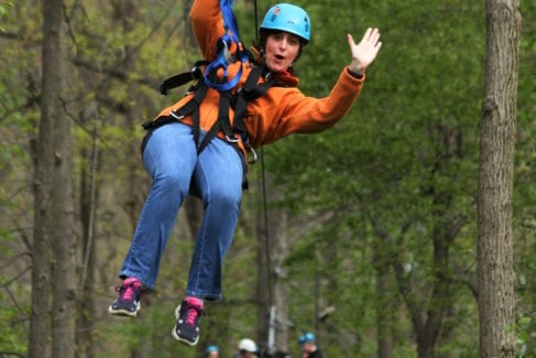 Zipline_Aerial Excursion_Spring_Woman