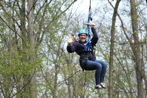 Zipline_Aerial Excursion_Spring_Woman_Youth
