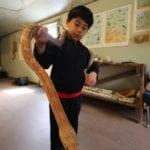 Nature Center_Child_Snake_Hands on