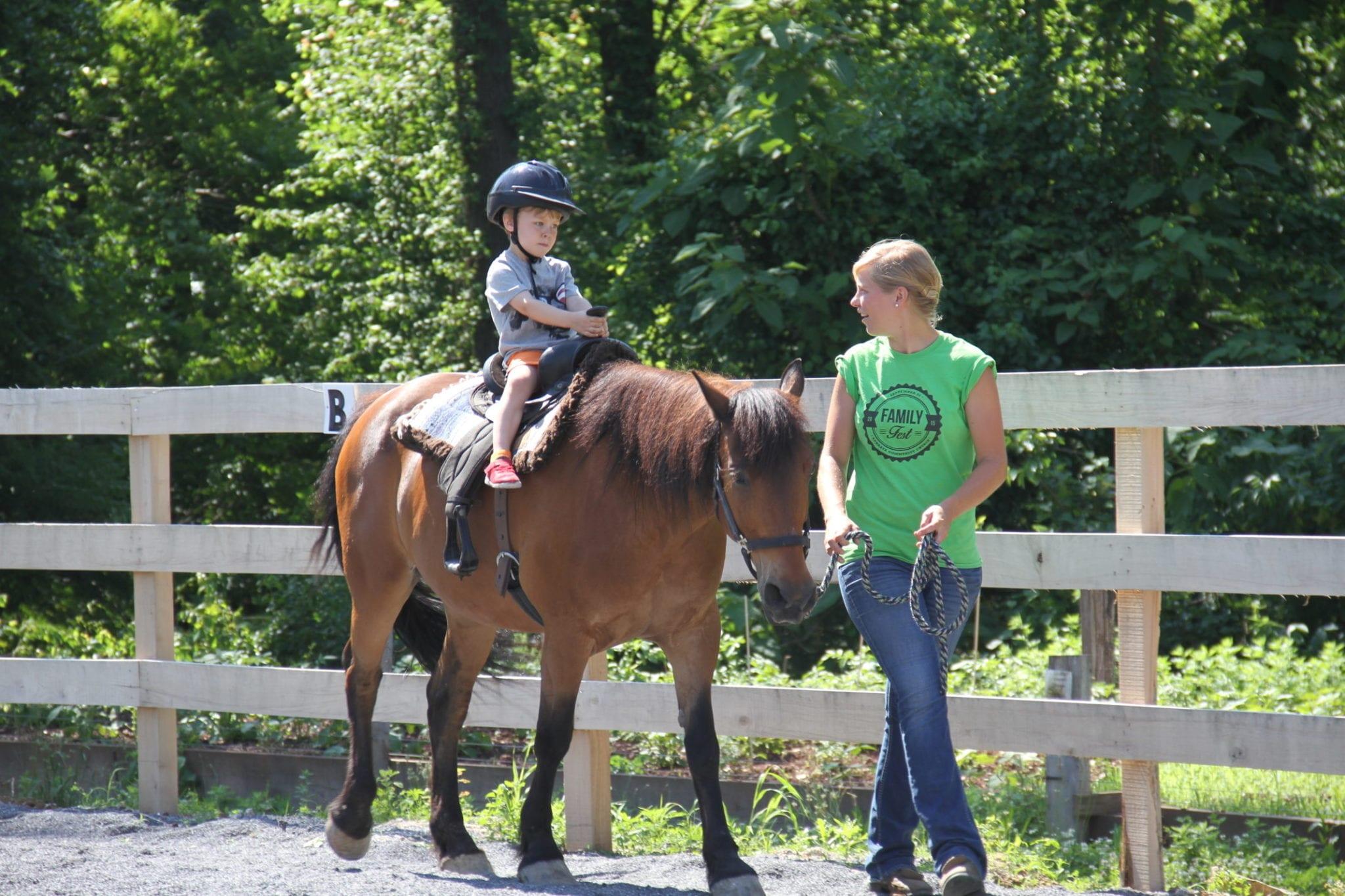 Kid Horseback Riding
