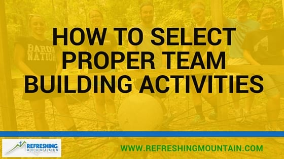 How to Select Proper Team Building Activities Banner