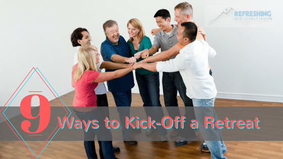 9 Ways to Kick-Off a Retreat - hands in!
