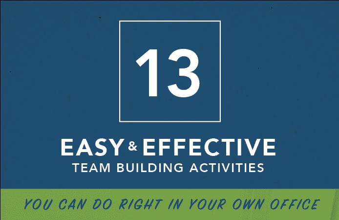 13 Team building Activities