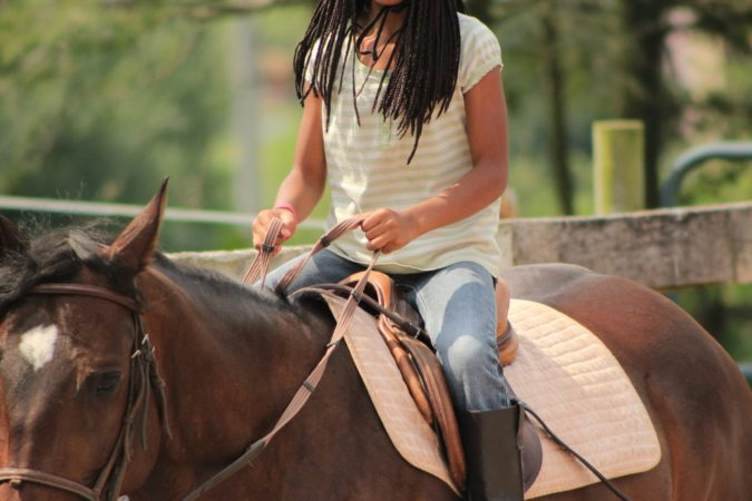 Rider on Horse Outdoors