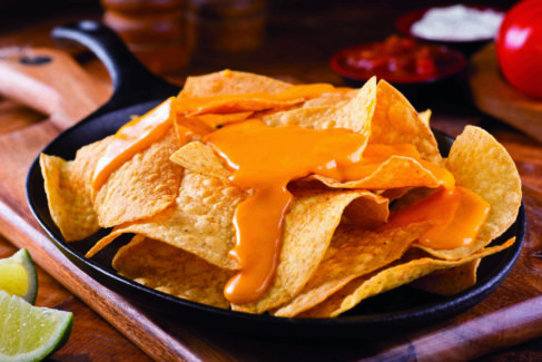 Food Snack Nachos with Cheese Sauce