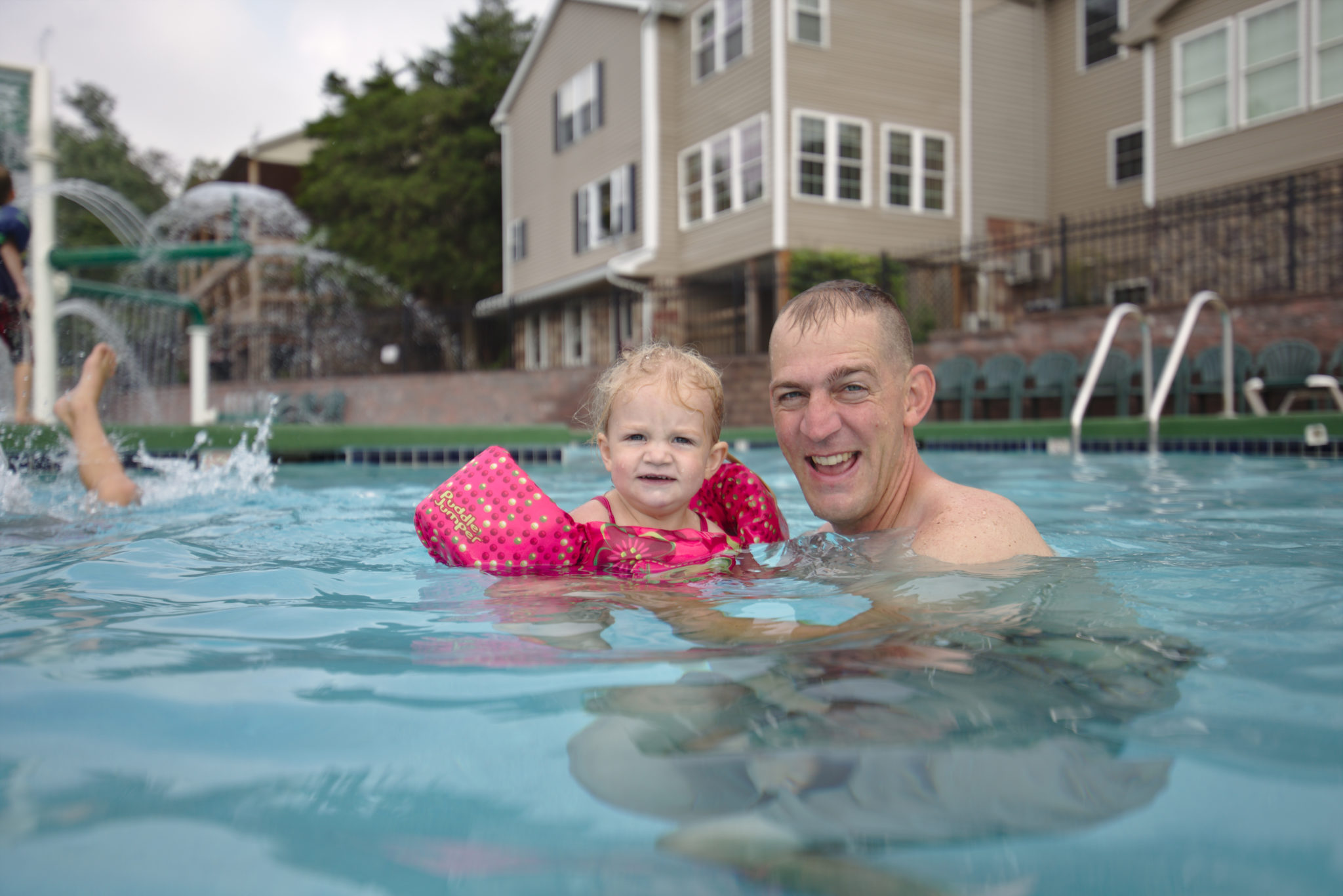 Community Pool Summer Family Retreat Fun Kids